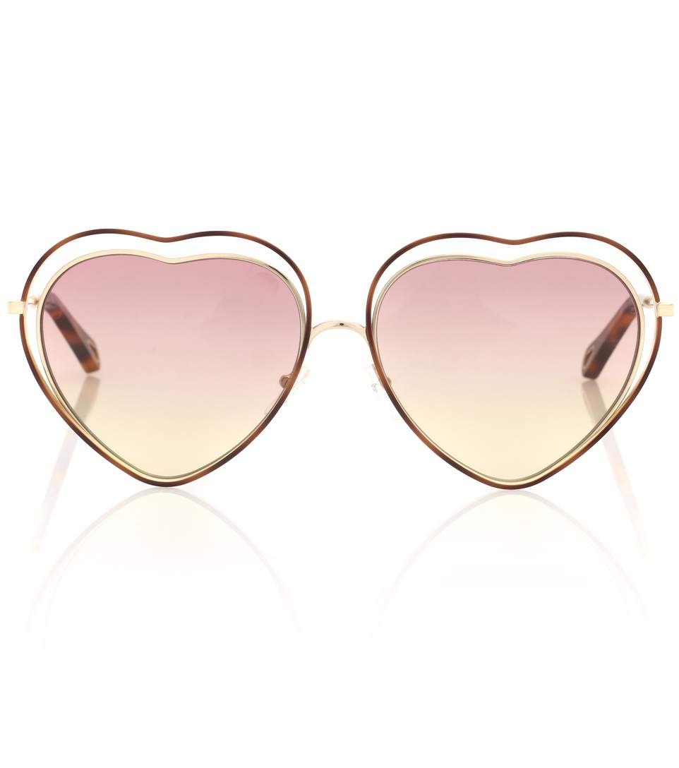 Poppy heart-shaped sunglasses